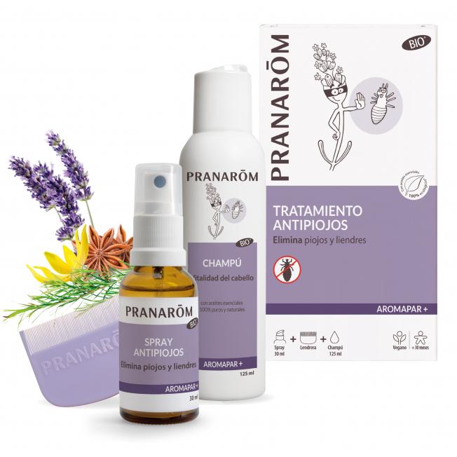 Tratamiento antipiojos - Spray + Champú + lendrera - 30 + 125 ml | Pranarôm
