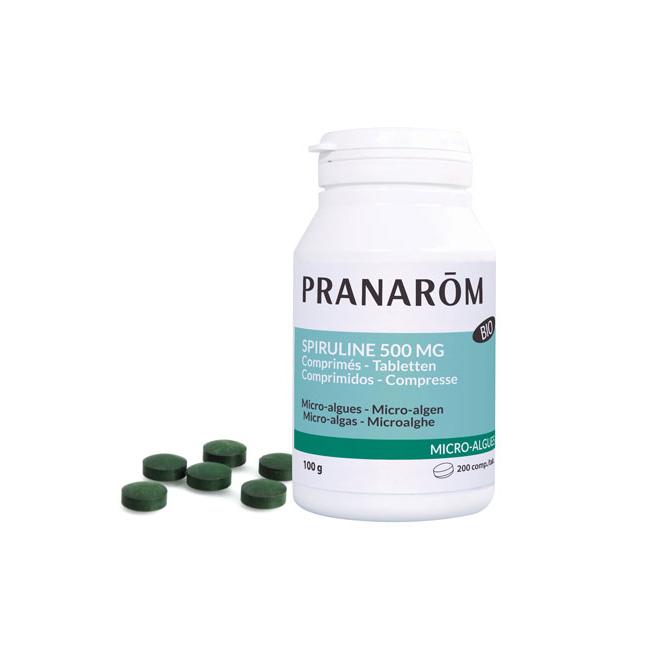 Espirulina 500 mg - 200 comprimidos   Pranarôm